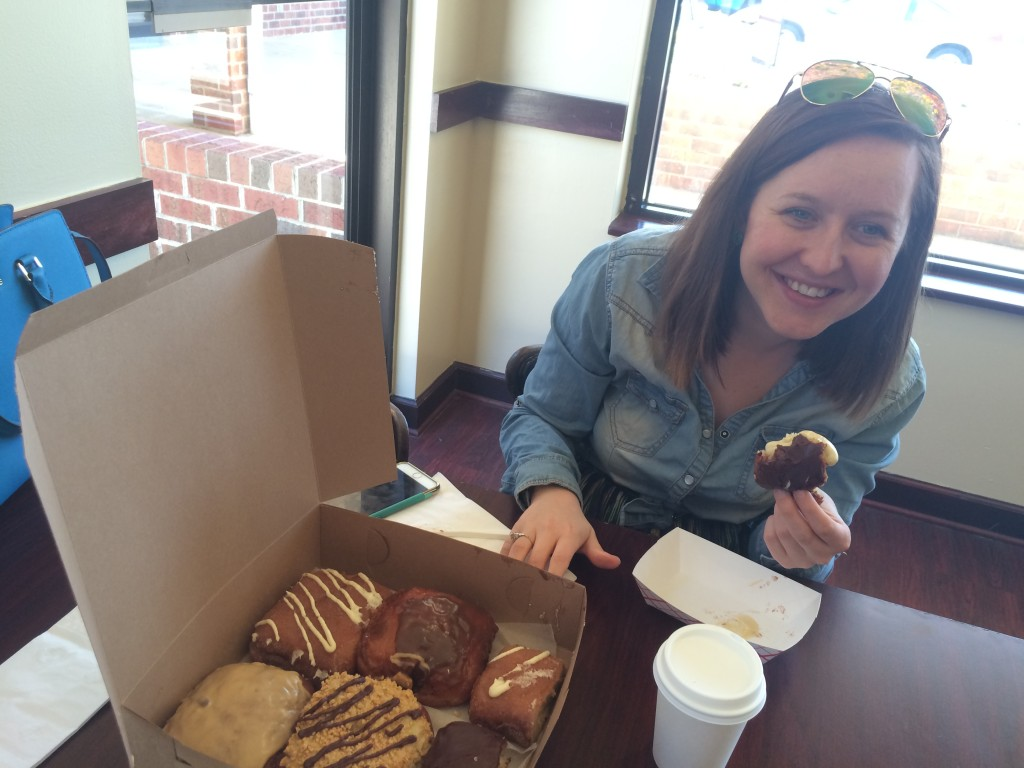 jen and donuts