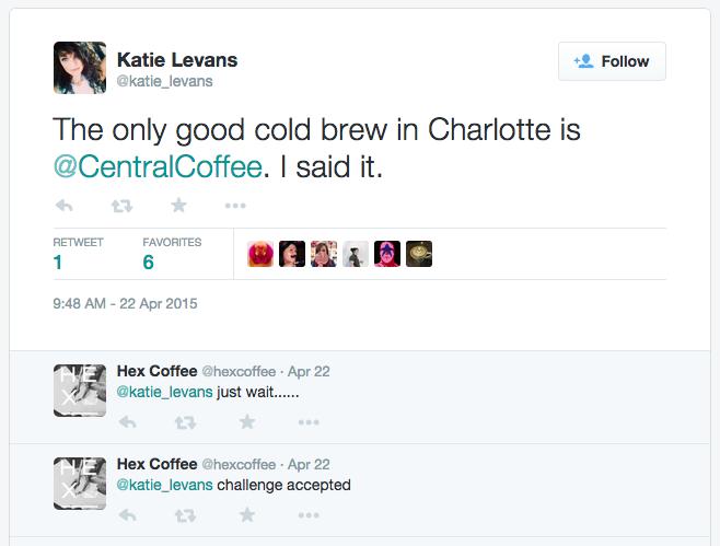 clt best cold brew tweet