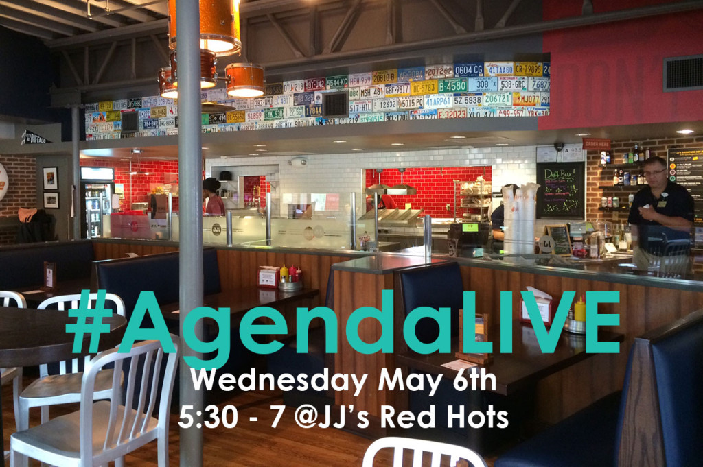 #AgendaLIVE @ JJ's Red Hots on Wednesday from 5:30 – 7:30 pm