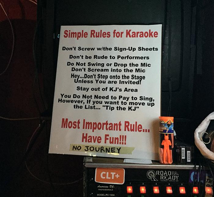 karoke-rules