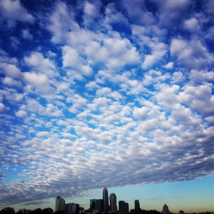 charlotte skyline clouds