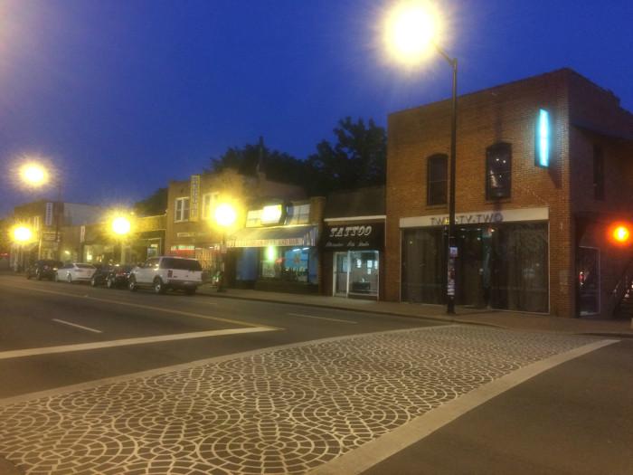 An evening walk through Plaza Midwood