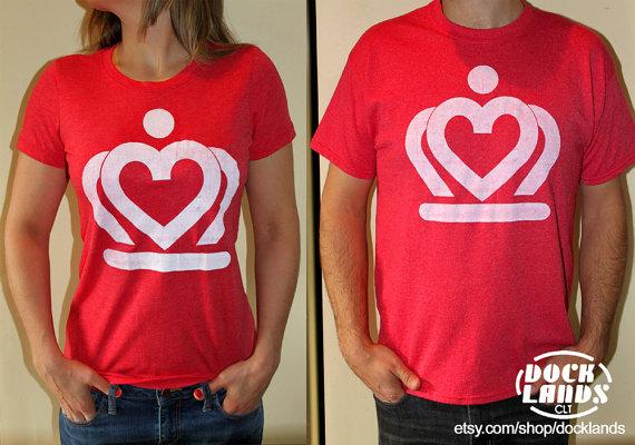 Docklands crown heart logo tee