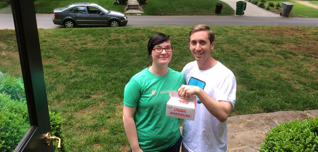 Postmates is delivering free Dunkin' Donuts May 20 & May 21. For real, I tried it.