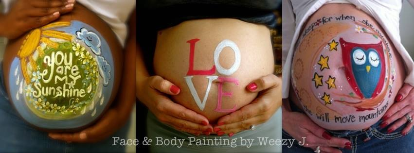Pregnant belly painting by Weezy