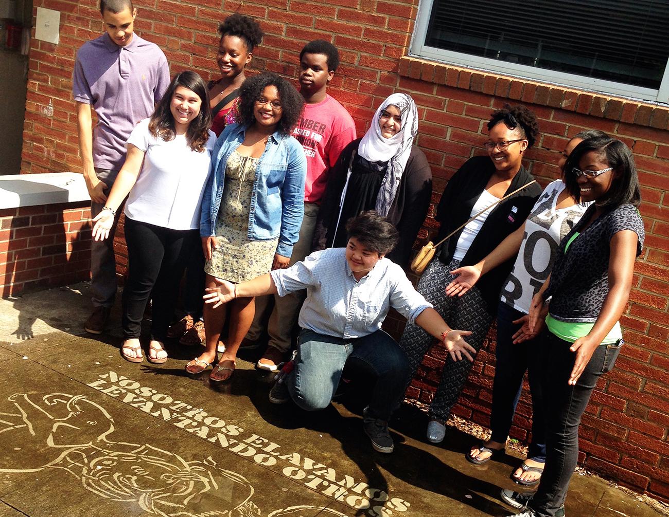 Positivity and partnership:#thesavageway and West Charlotte High School IB art program spread positivity