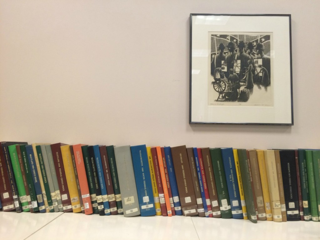 Inside the Robinson-Spangler Carolina Room at Main Library Uptown