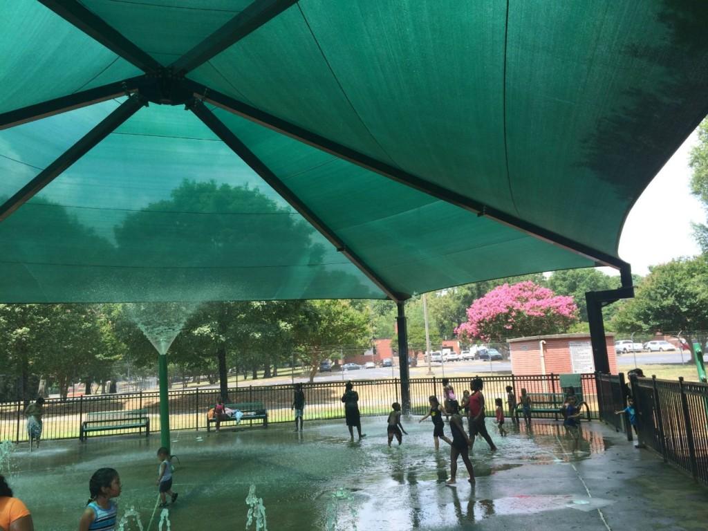 Veterans Park sprayground