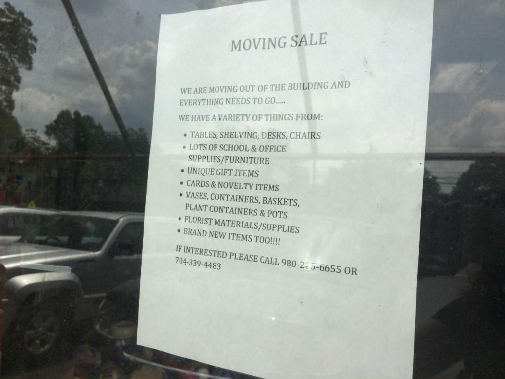 Roy Whites moving sale