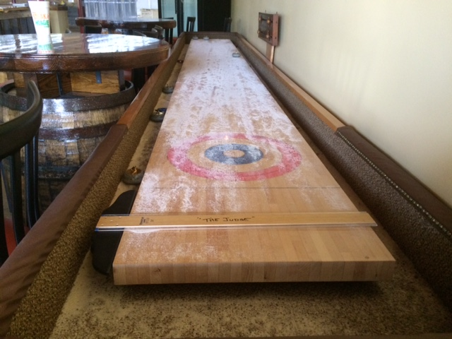 red clay ciderworks shuffleboard game
