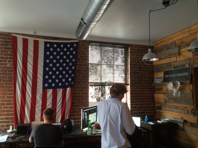 plaid penguin office space