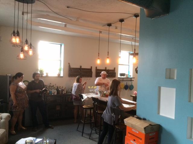 kitchen bar plaid penguin south end