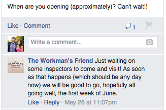 Workman's Friend opening