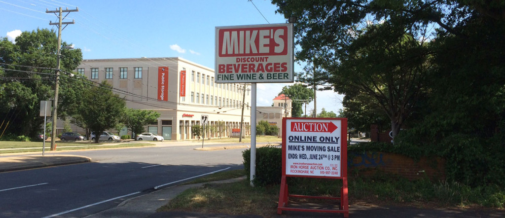 Bid online now for 180 assets from Mike's Discount Beverage. Pasta & Provisions coming to Park Road