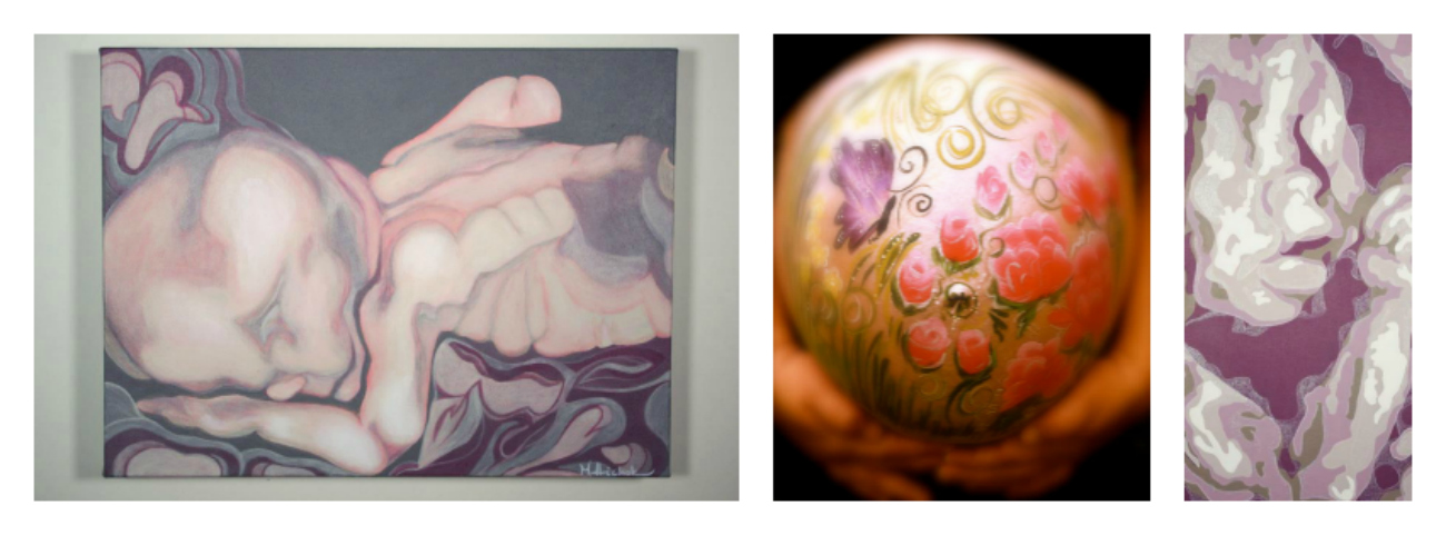 Fetal art, it's a thing: Painting pregnant bellies and sonograms