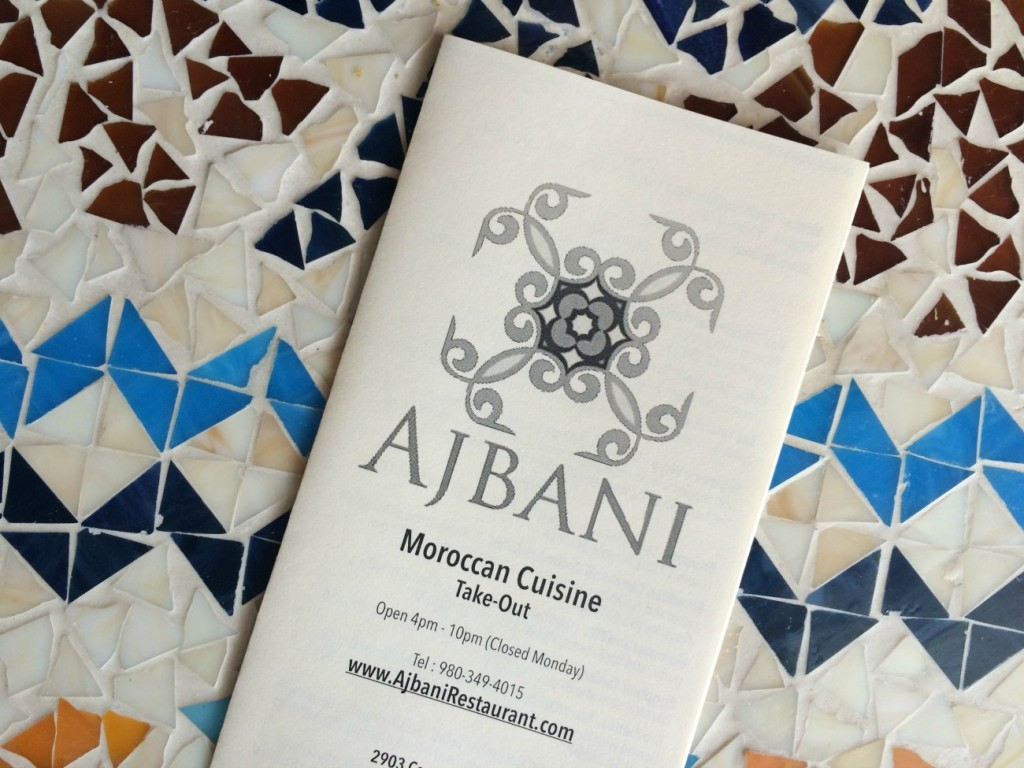 Ajbani Charlotte menu