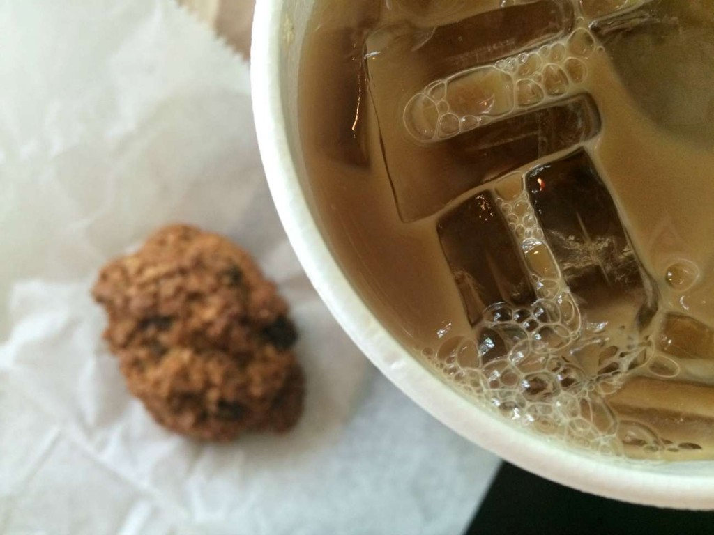 Lily Bean Coffee and cookie