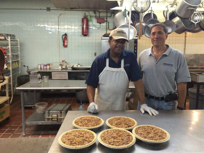 Gary and Anthony at Andersons pecan pie