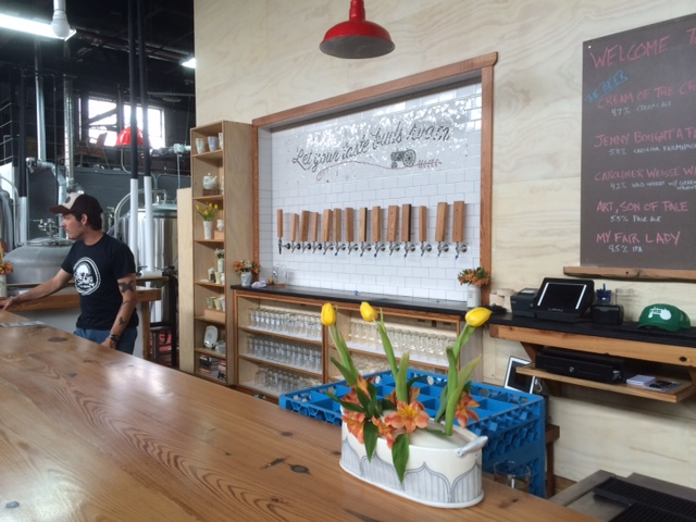 free range brewery taproom bar
