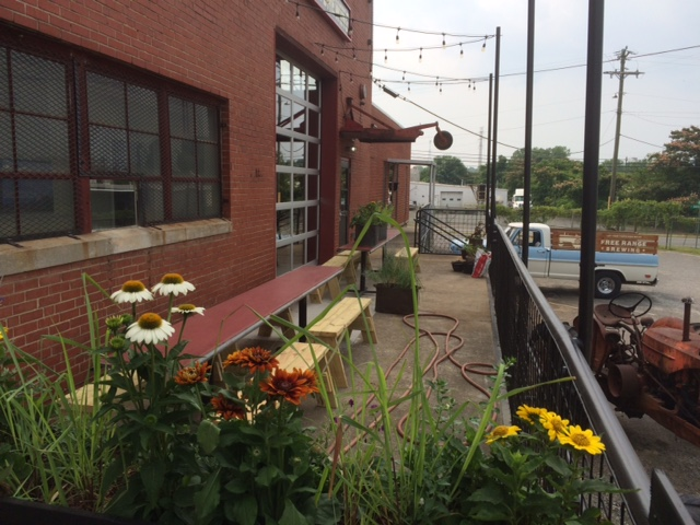patio at free range brewery