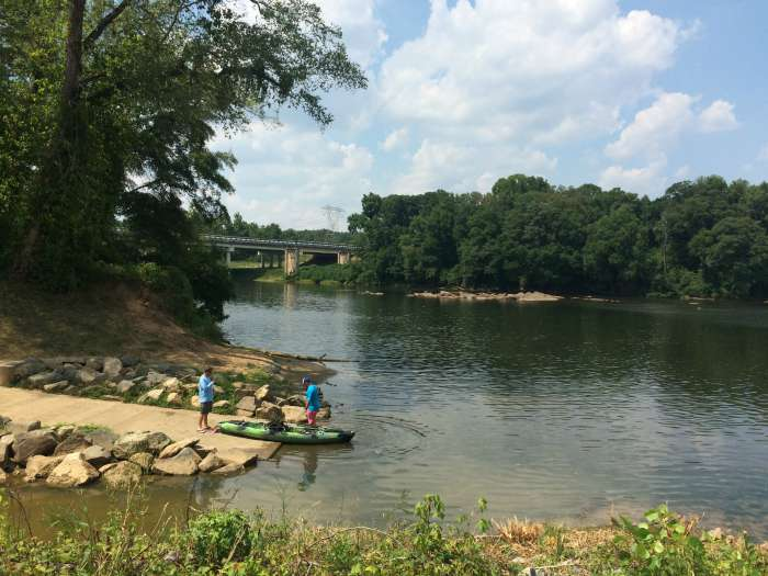 Riverwalk kayak launch