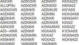 azzkicker forbidden license plates