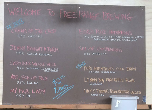 beer-list-at-free-range-brewery