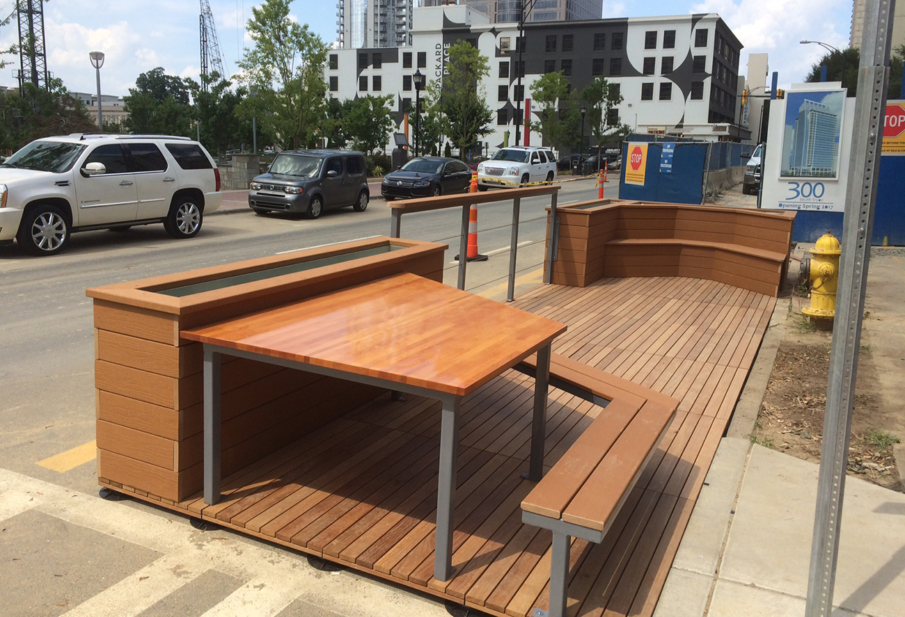 What's a parklet? Everything you need to know about Charlotte's new miniature parks