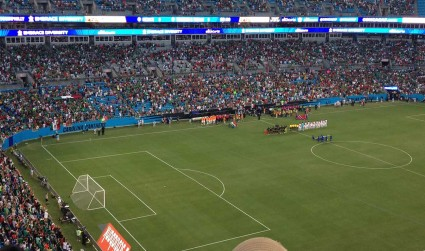 My intense experience at the Gold Cup soccer match on Wednesday night