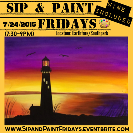 The weekender july 24 26 charlotte agenda for Sip and paint charlotte nc
