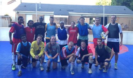 Street Soccer 945. Helping Charlotte's homeless reach their goals.