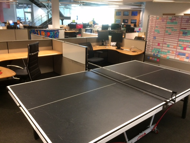 red ventures ping pong table