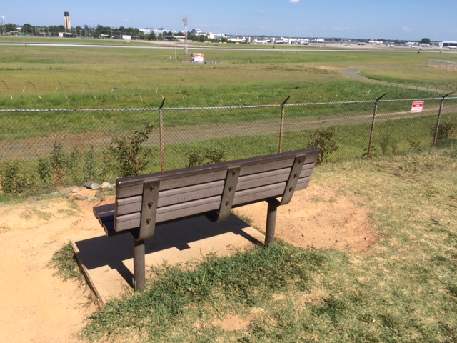 charlotte airport overlook bench