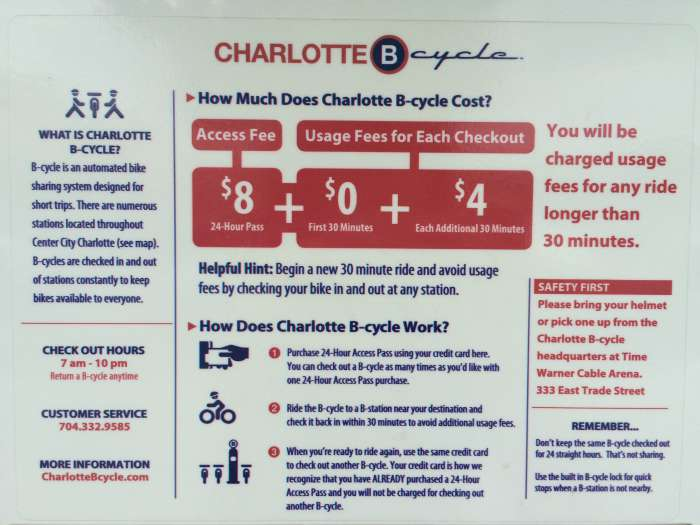 B-cycle fees