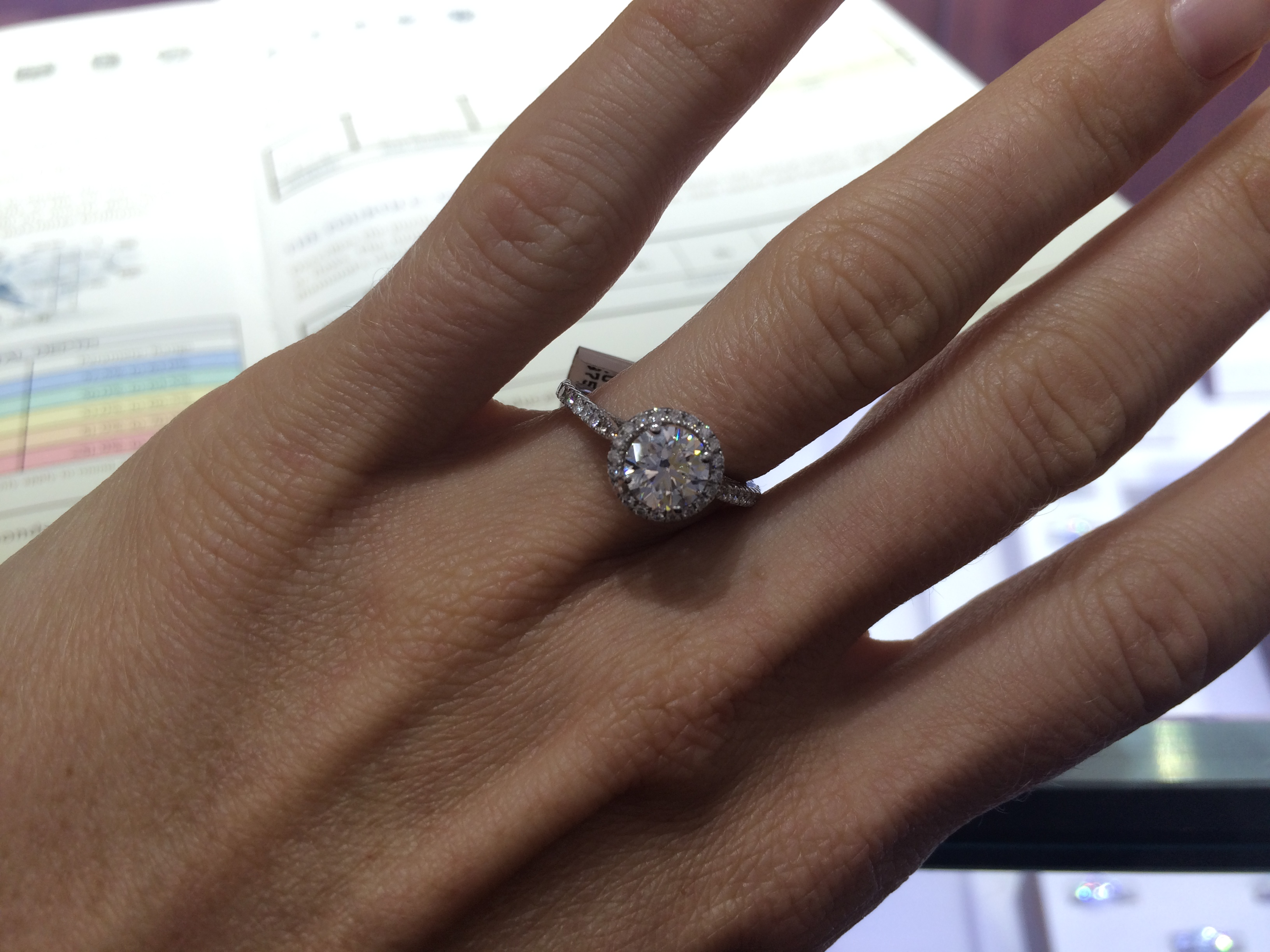 americus engagement rings diamond