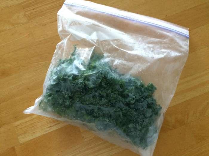 frozen NC kale