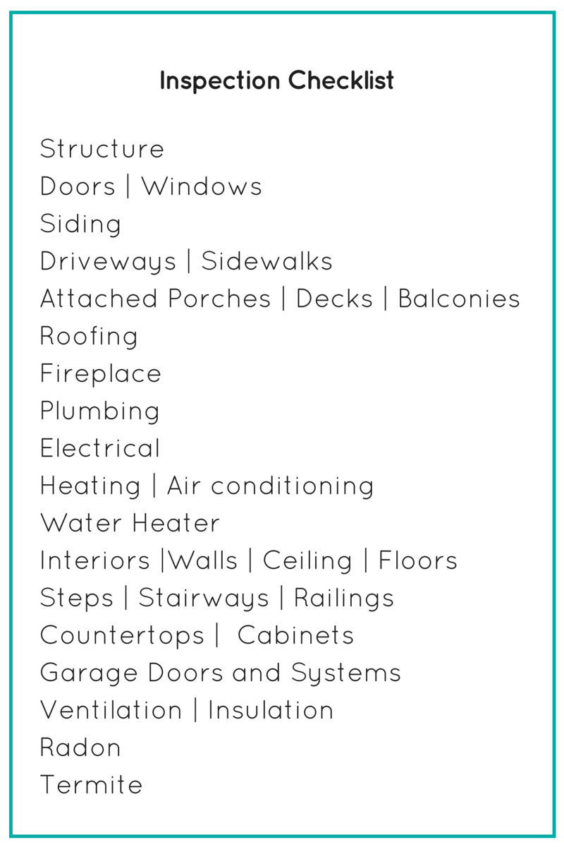 Guide buying a home in charlotte charlotte agenda for Final inspection checklist new home