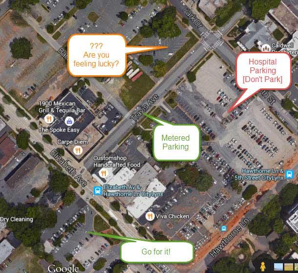 Charlotte-Streetcar-Parking-Map