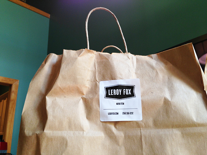 Leroy Fox Takeout Bag Charlotte