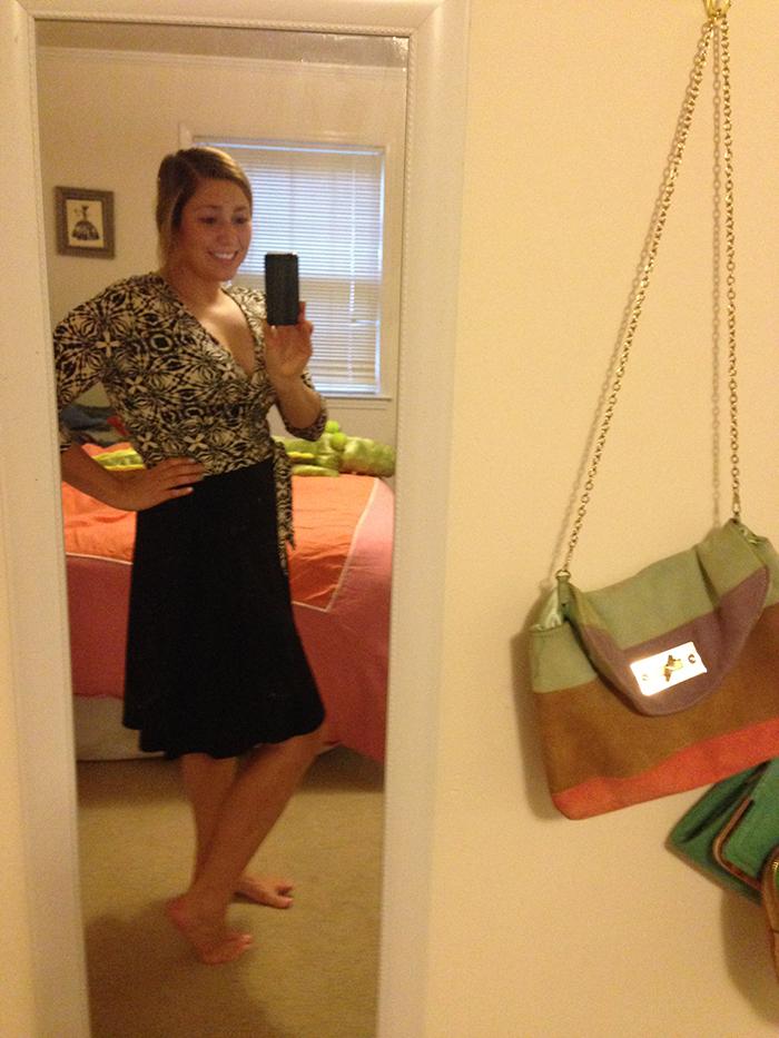mary gross stitch fix Amandine Printed Dress