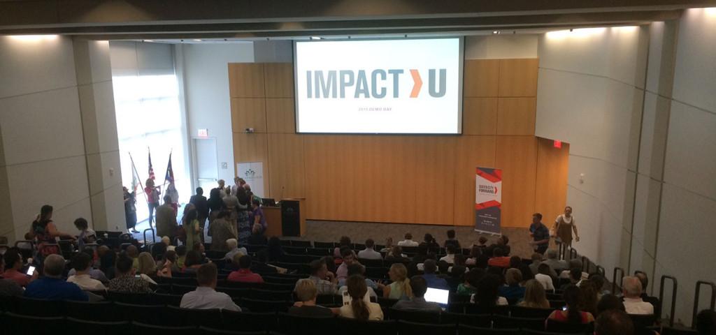 Scenes from last night's ImpactU Demo Day event