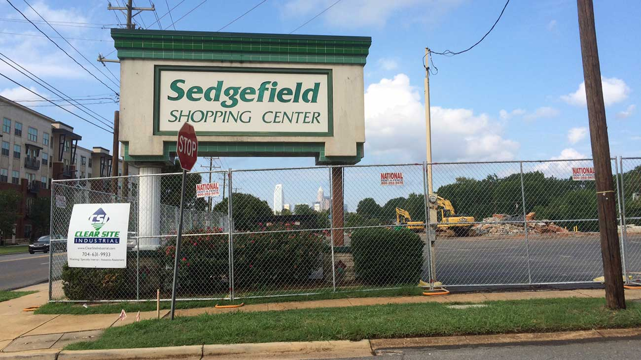 Quick overview of the Sedgefield Shopping Center development