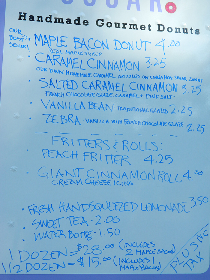 sugar-donut-truck-menu