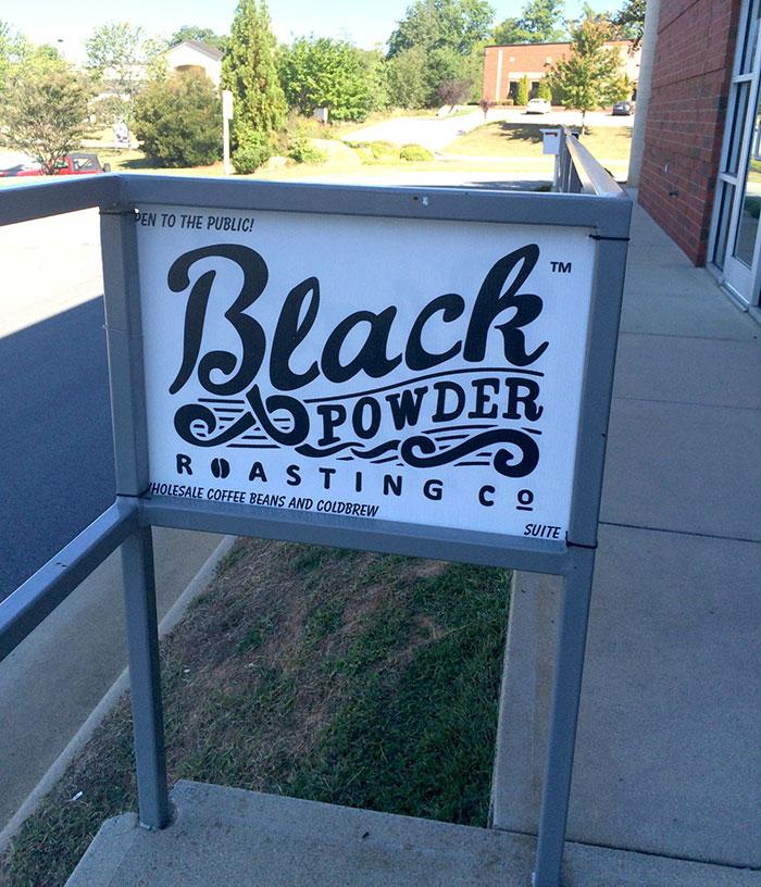 Black-Powder-Roasting-Company-Sign