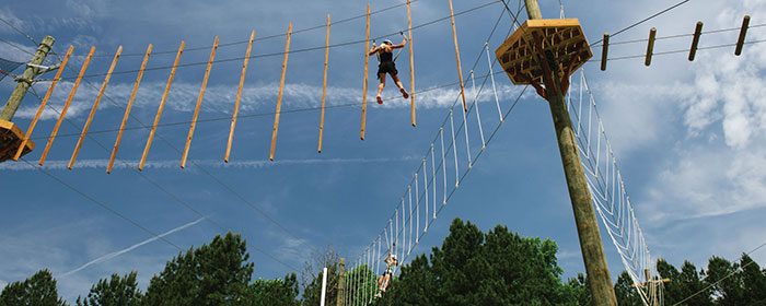 whitewater center ropes course