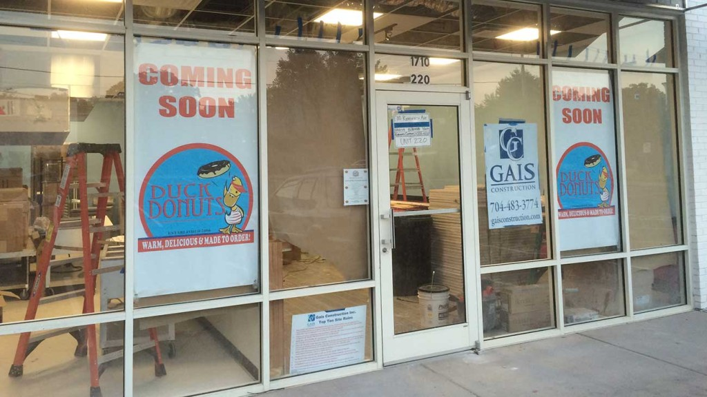 Duck Donuts targets Monday September 14th for Dilworth opening