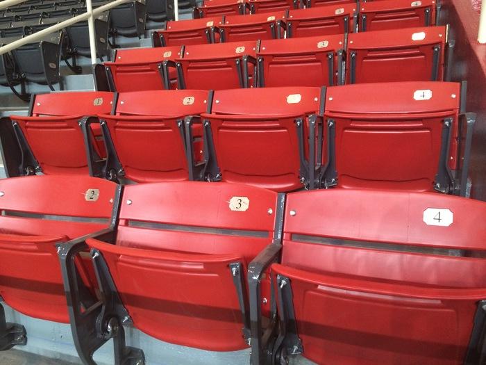 Bojangles' Coliseum new seats