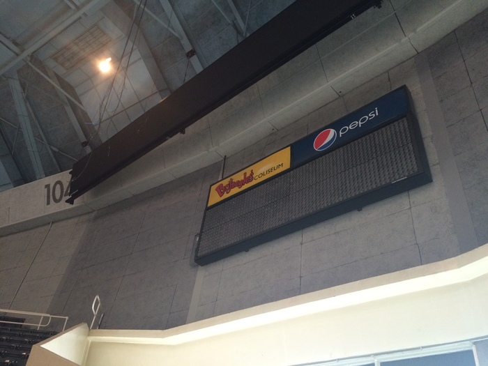 Bojangles' Coliseum original scoreboard