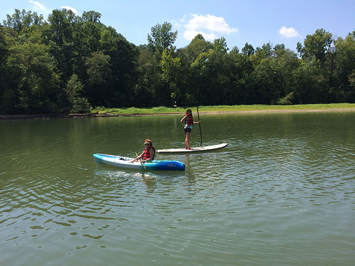 kayak and paddleboard at the whitewater center