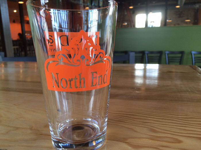 north-end-charlotte-beer-glass
